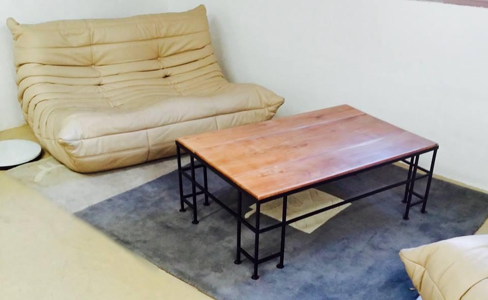 Un petit coup d'oeil aux dernières créations de la fabrique: table basse fer forgé