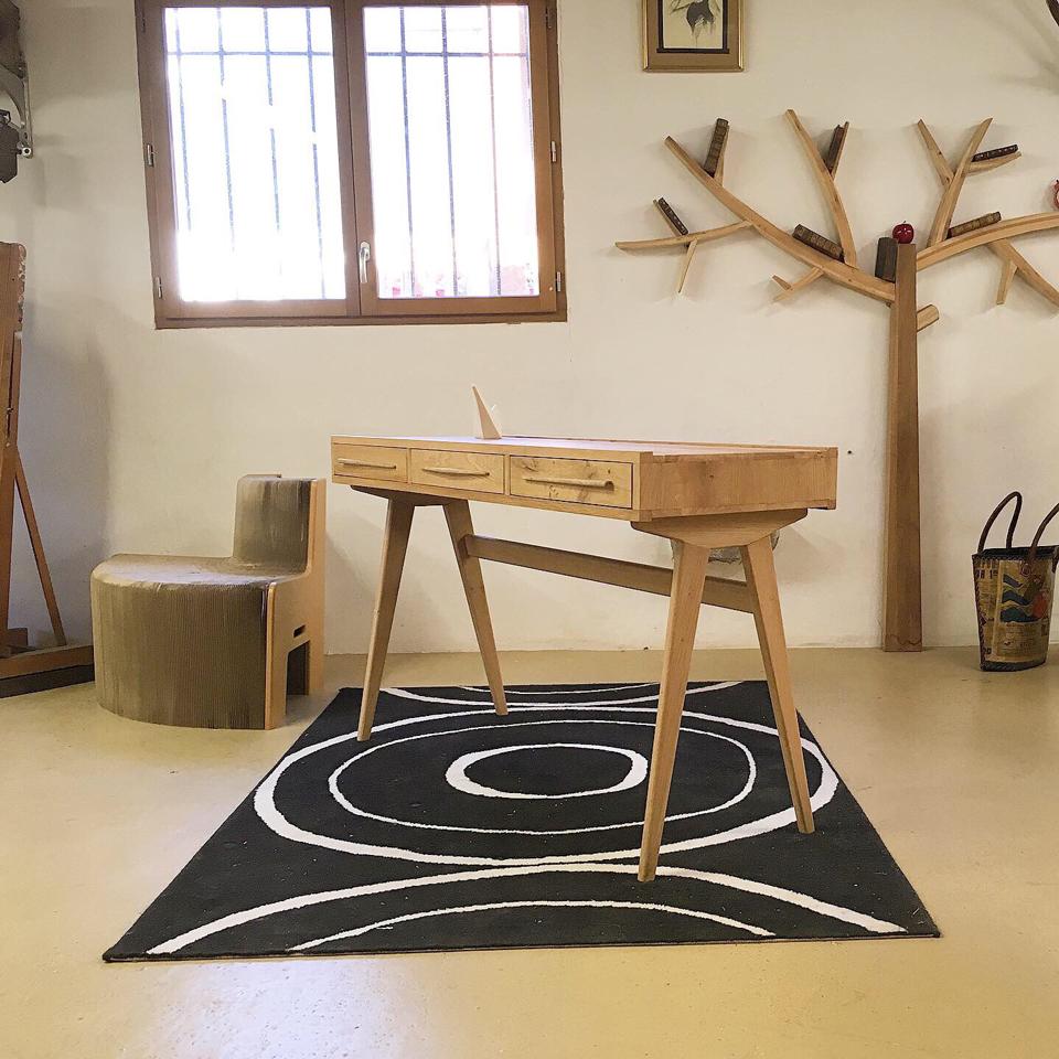 Emmaus Var - La Fabrique - bureau 3 tiroirs