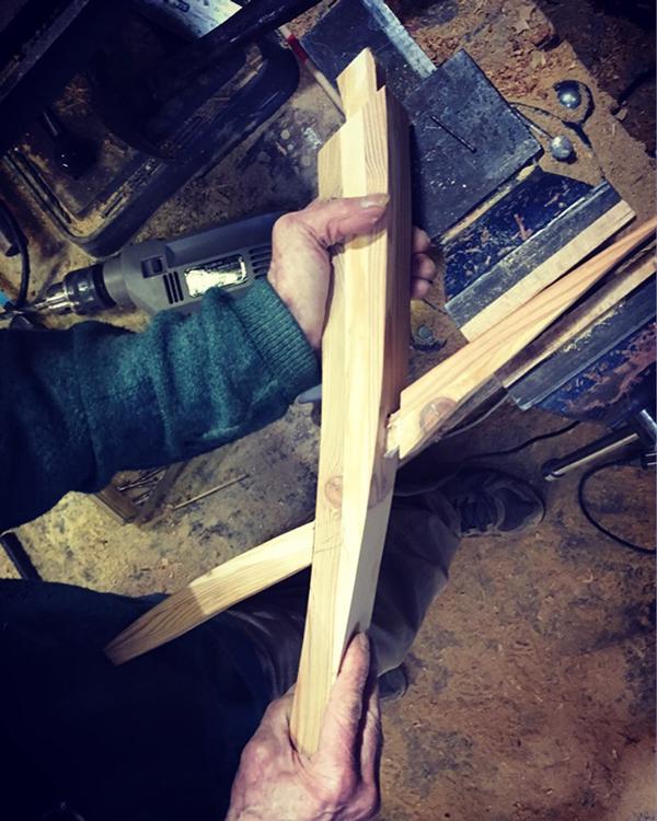 Emmaus Var - La Fabrique - création d'un arbre étagère